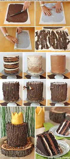 How to make Tree Wood Cake