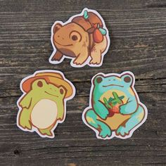 Sticker Pack - Toads & Frogs · JelArts · Online Store Powered by Storenvy Cute Drawings, Animal Drawings, Frosch Illustration, Frog Wallpaper, Frog Logo, Frog Costume, Pet Frogs, Frog Drawing, Art Mignon