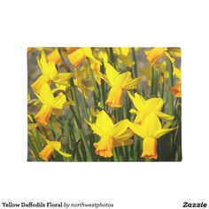 Yellow Daffodils Floral Doormat