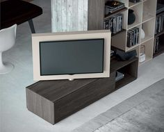 View full picture gallery of Catalogo MOOD - Astor Mobili Tv Wall Design, Tv Unit Design, House Design, Tv Stand Room Divider, 1960s House, Swivel Tv Stand, Interior Window Shutters, Tv Wall Decor, Tv Furniture