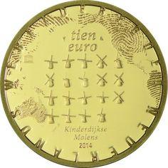 5 Euro Gold Windmühlen von Kinderdijk PP