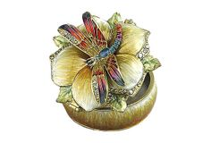 "ASHLEIGH MANOR  |  Queen Dragonfly Box, 2"" Dia. 