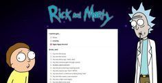 The Rick and Morty Drinking Game