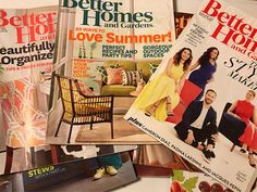 Womens Magazines Craft Supply Back Issues Paper Crafts Collage Scrapbooking Bulletin Boards Reading Material Better Homes And Gardens