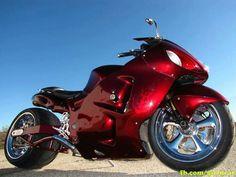 Stretched Hayabusa , custom paint, Chrome rims, Gen-I Suzuki Hayabusa , Custom Street Bikes, Custom Sport Bikes, Custom Motorcycles, Moto Ninja, Custom Hayabusa, Custom Baggers, Scooters, Suzuki Hayabusa, Chopper Bike