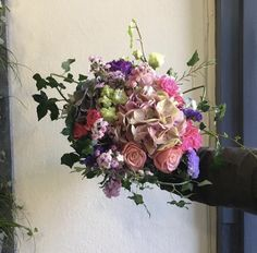 A splash of colour with this fabulous pink and purple bridal bouquet with hydrangea, roses, spray roses and scented wax flower for real Summer wedding vibes. Wax Flowers, Wedding Flowers, Summer Wedding, Wedding Day, Summer Shades, Spray Roses, Scented Wax, Bridal Bouquets, Hydrangea