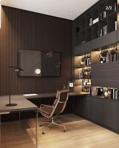 home office design Old Podol apartment - Dezign Ark (Beta) Modern Home Offices, Small Home Offices, Modern Office Design, Office Interior Design, Office Interiors, Workplace Design, Contemporary Office, Luxury Interior, Home Office Setup