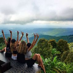 Bryana and friends in Bali
