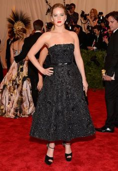 Jennifer Lawrence in Dior at the Met Gala