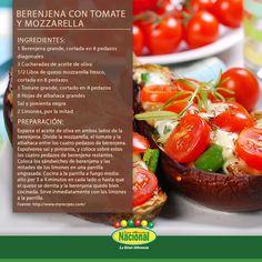 Berenjena con Tomate y Mozzarella