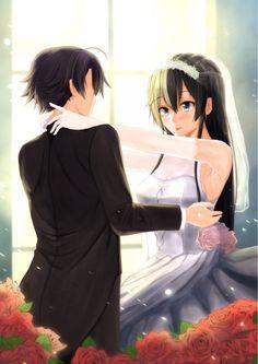 Hachiman hikkigaya x Yukinoshita Yukino Anime Couples Manga, Cute Anime Couples, Manga Anime, Kawaii Anime Girl, Anime Art Girl, Fairy Tail Comics, Best Villains, Sexy Drawings, Anime Love Couple