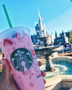Magic Kingdom: Starbucks Strawberry Refresher, from Main Street Starbucks