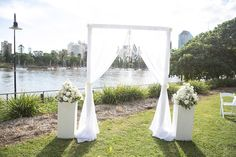 Elegant White Wedding Arch