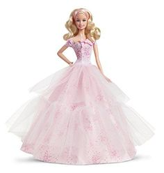 Celebrate birthdays or special occasions with Birthday Wishes Barbie doll. Barbie is still pretty in pink. toys4mykids.com