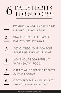 6 daily habits for success habits Motivacional Quotes, Life Quotes, Career Quotes, Relationship Quotes, Habit Quotes, Dream Quotes, Night Quotes, Vie Positive, Positive Vibes