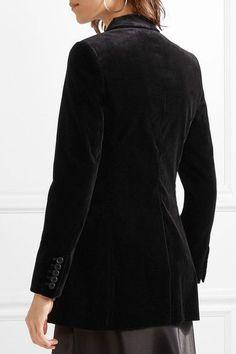 Theory - Berdyne B Stretch-cotton Velvet Blazer - Black - US10