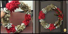 DIY: Holiday Burlap Wreath   LCstyle