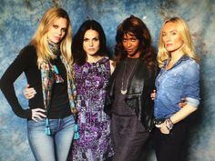 "Lana Parrilla: ""We are deliciously evil... Kristin Bauer, Merrin Dungy, Victoria Smurfit #QueensOfDarkness"""