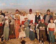 1913'teki I. Balkan Savaşı sırasında Bulgarlardan kaçan Türk sığınmacılar.