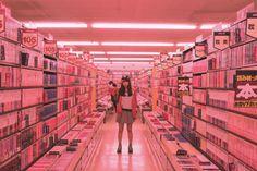 girls in grocery stores//video aisles Aesthetic Photo, Pink Aesthetic, Aesthetic Pictures, Vaporwave, Arte Alien, Story Inspiration, Writing Inspiration, Overwatch, Vintage Modern