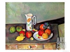 Still Life with Milkjug and Fruit, circa 1886-90 Giclee Print by Paul Cézanne at Art.com