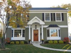 James Hardie Homes - traditional - exterior - chicago - Erdmann Exterior Designs Ltd. Mountain Sage