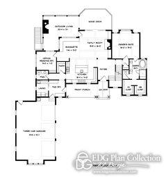 Schumacher Homes Floorplans Larkspur New House Pinterest - Craftsman house plans with 3 car garage