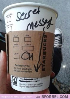 How to hit on someone if you work at Starbucks
