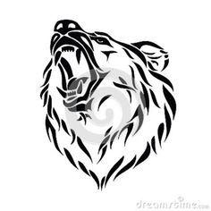 0e32ca988ae20 Ideas on Pinterest | Tribal bear tattoo Bear tattoos and Tribal bear Bear