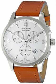 love this watch Cool Watches, Watches For Men, Victorinox Swiss Army, Swiss Army Watches, Fathers Day Gifts, Chronograph, Mens Fashion, Brown, Accessories