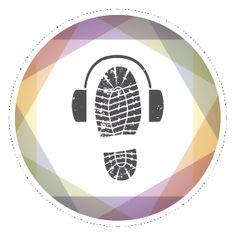 Logo for vandresnutt fra designprofilen til Gründertrening nettkurs. En vandresnutt er en forelesning du lytter til når du går tur!