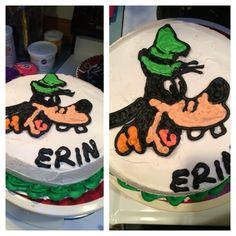 Goofy cake I made #goofy #disney #wilton #cakedecorating
