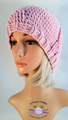 Handmade hat, crocheted with bamboo and micro acrylic yarn, soft and warm. Hat is very slouchy, therefore it fits very easy on the head.