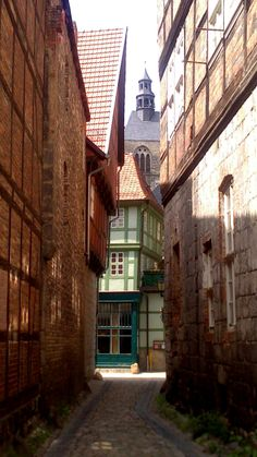 Jüdengasse in Quedlinburg, Germany