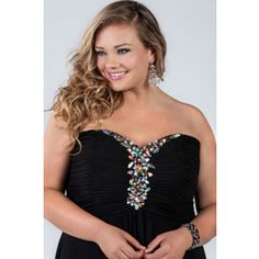 """Sponsored Plus Size Fashion Trend of the Day… """"Into The Night"""" Chiffon Strapless Gown From Sydney's Closet - http://www.plus-model-mag.com/2014/02/sponsored-plus-size-fashion-trend-of-the-day-into-the-night-chiffon-strapless-gown-from-sydneys-closet/"""