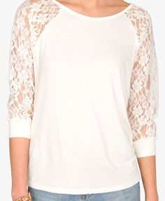 Floral Lace Sleeve Top | FOREVER21