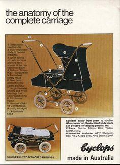 Cyclops Carrington vintage pram brochure - circa 1973-76