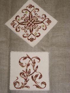 biscornu monogram A