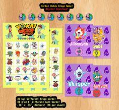 Yo-kai Watch Bingo Yokai Youkai Watch Digital by MakeupAndManga Only 4.99! http://etsy.me/1V2mwDs