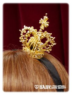 Alice and the Pirates - Royal Crown Head Dress - gold, lolita, ouji