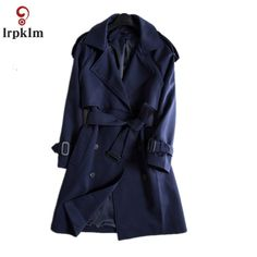 S-XL 2017 Spring Autumn New Arrival Trench Coat Women Double-Breasted Turn-Down Collar Style Long Navy Outwears YY879 #Affiliate