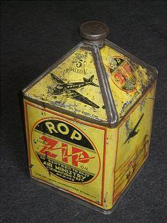 Vintage Zip Oil Can