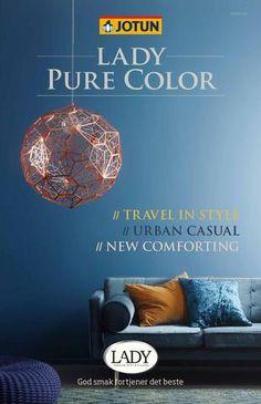 Farvekort og farvekoder for maling ude og inde på malbilligt. Jotun Lady, Home Living, Travel Style, Urban, Pure Products, Cover, Casual, Inspiration, 13 March