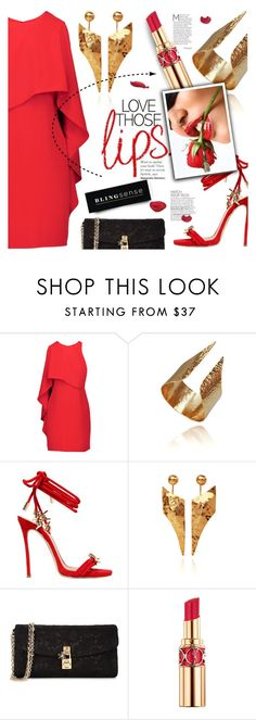 """""""Fall Beauty: Red Lipstick"""" by blingsense ❤ liked on Polyvore featuring beauty, Halston Heritage, Dsquared2, Dolce&Gabbana and Yves Saint Laurent"""