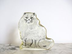 Vintage Mid Century Modern Abraham Palatnik Op Art Lucite Persian Cat by HotCoolVintage on Etsy