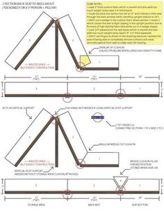 Couch Bed Hinge Question Sportsmobile For T4 Camper, Camper Beds, Build A Camper, Camper Caravan, Mini Camper, Camper Awnings, Grand Caravan, Campervan Bed, Campervan Interior