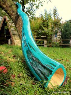 Blue Hornbeam didgeridoo, Tuned in Cis/Des on Etsy, $479.28