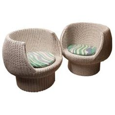 Amiable Green And Pink Childs Wicker Rocker Clients First Furniture