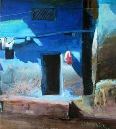 සිත්තර වරුණ: දිය සායම් චිත්රශිල්පී Millind Mulick -An Indian Artist Watercolor Architecture, Watercolor Landscape, Landscape Paintings, Watercolor Paintings, Landscapes, Watercolours, Ombres Portées, Building Painting, Gouache