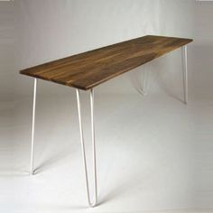 Dining Table Hairpin Legs In Walnut Industrial By CordIndustries